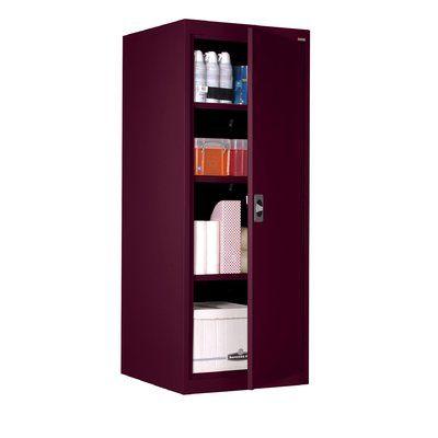 Sandusky Cabinets 1 Door Storage Cabinet Finish Burgundy In 2020 Adjustable Shelf Storage Door Storage Storage Cabinet Shelves
