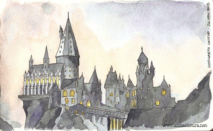 23+ Hogwarts illustration ideas