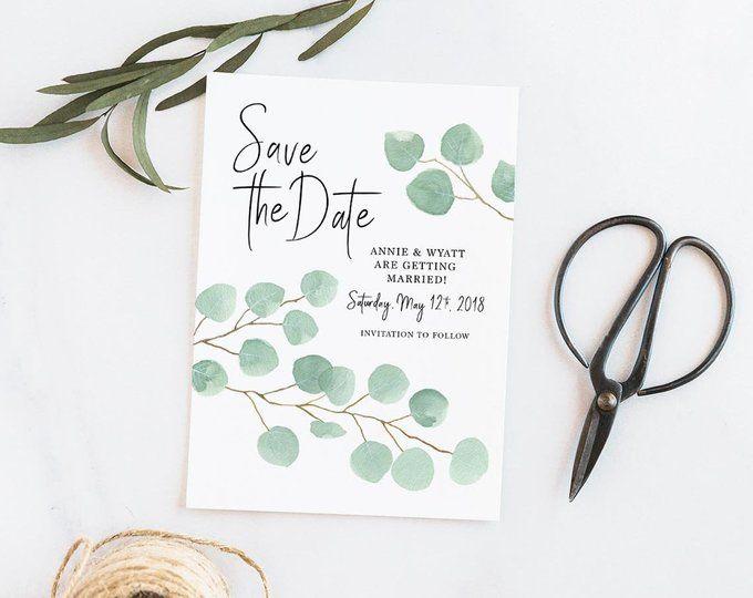 Hochzeitskarten Hochzeitseinladung Eukalyptus Vintage Style Ein