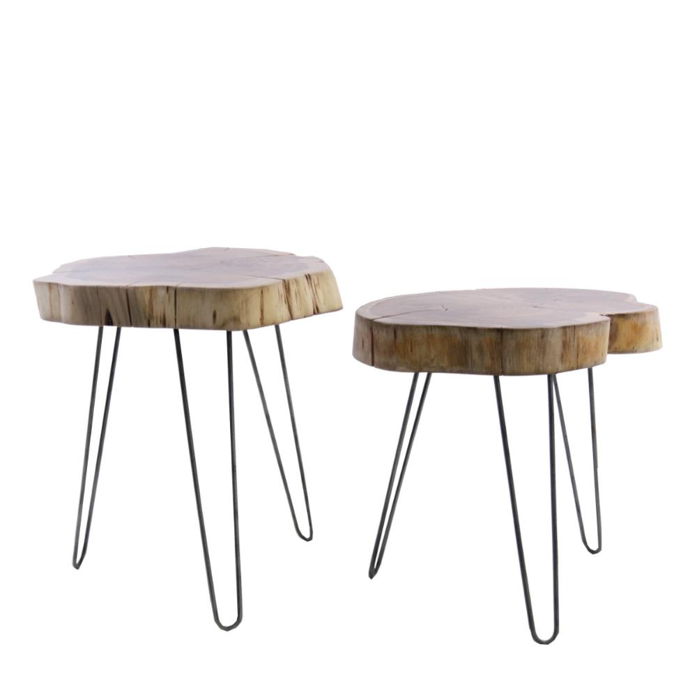 Ceppo Di Legno Tavolino set 2 tavolini eldorado | tavolini, tavolino da caffè, ceppi