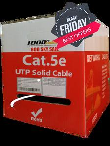 Cat5e Plenum 1000FT CMP Bulk Cable In 139.44 Solid Copper