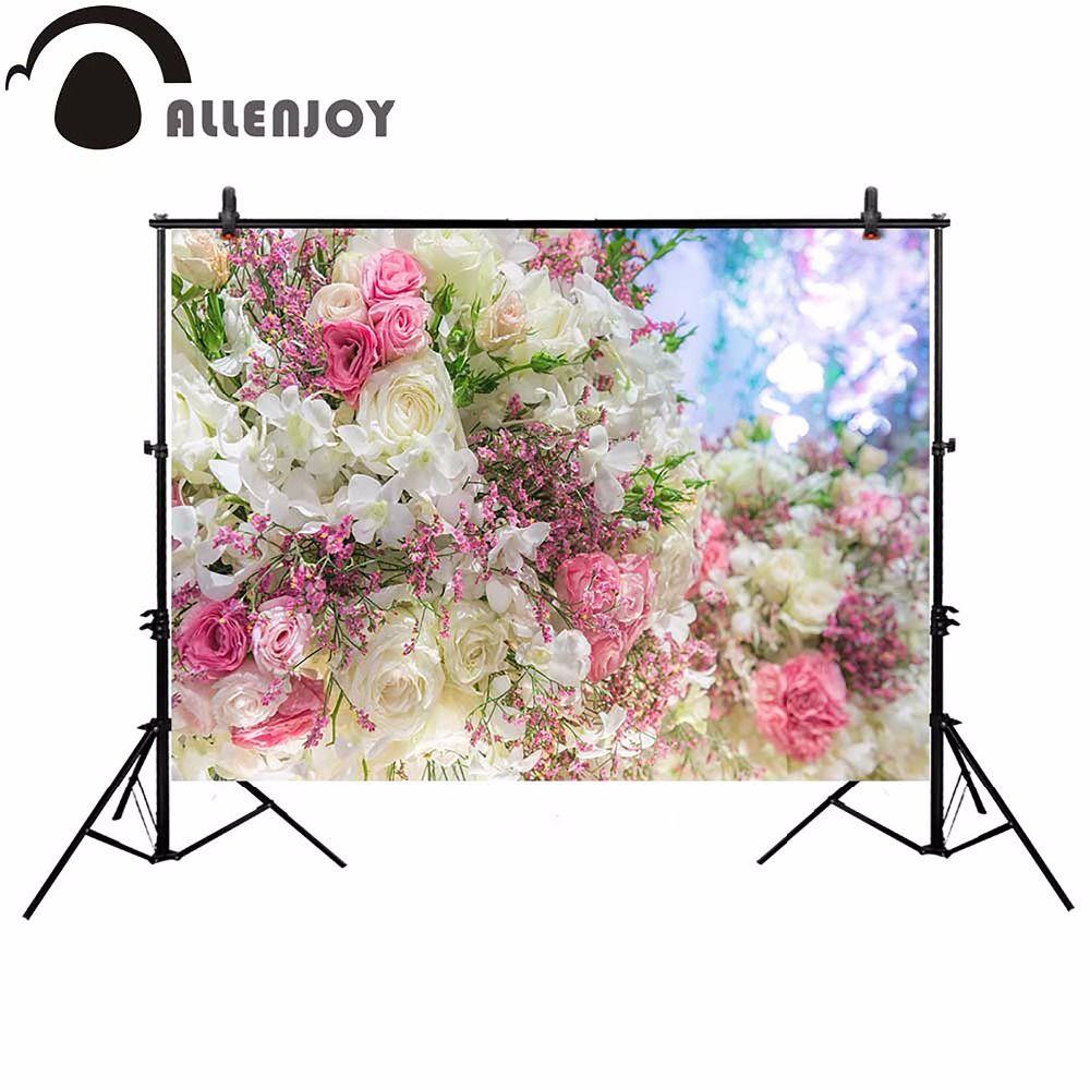 Bokeh Flowers Wedding: Allenjoy Wedding Flower Photography Backdrop Bokeh Dream