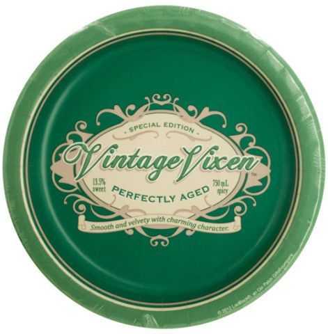vintage vixen birthday dessert party plates Case of 24