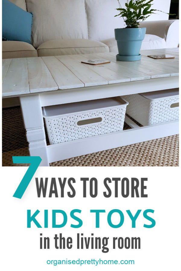 Living Room Toy Storage Ideas Organised Pretty Home Living Room Toy Storage Kids Toy Organization Family Friendly Living Room