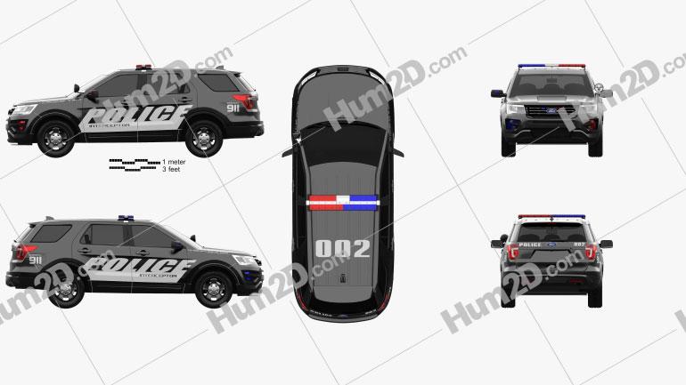 Ford Explorer Police Interceptor Utility 2016 Clipart Ford Explorer Interceptor Police