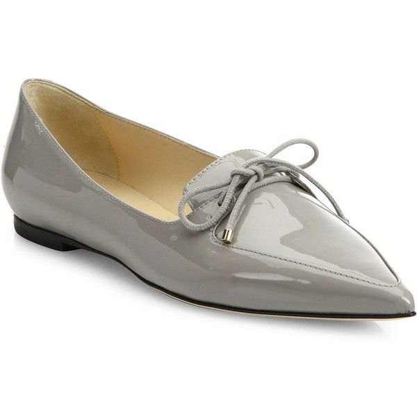 dc55ccdfd16 Jimmy Choo Genna Patent Leather Point-Toe Flats (18