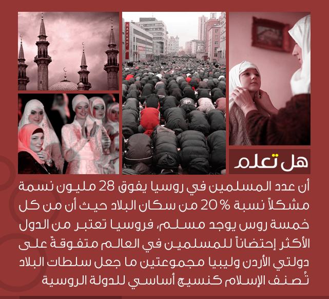 عدد المسلمين في روسيا يفوق نظيره في دولتي الأردن وليبيا مجموعتين Islamic Phrases Knowledge Quotes Life Facts
