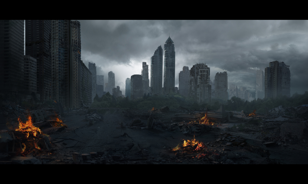 Matte Painting By Tubay 2d Cgsociety Matte Painting Painting Art Portfolio