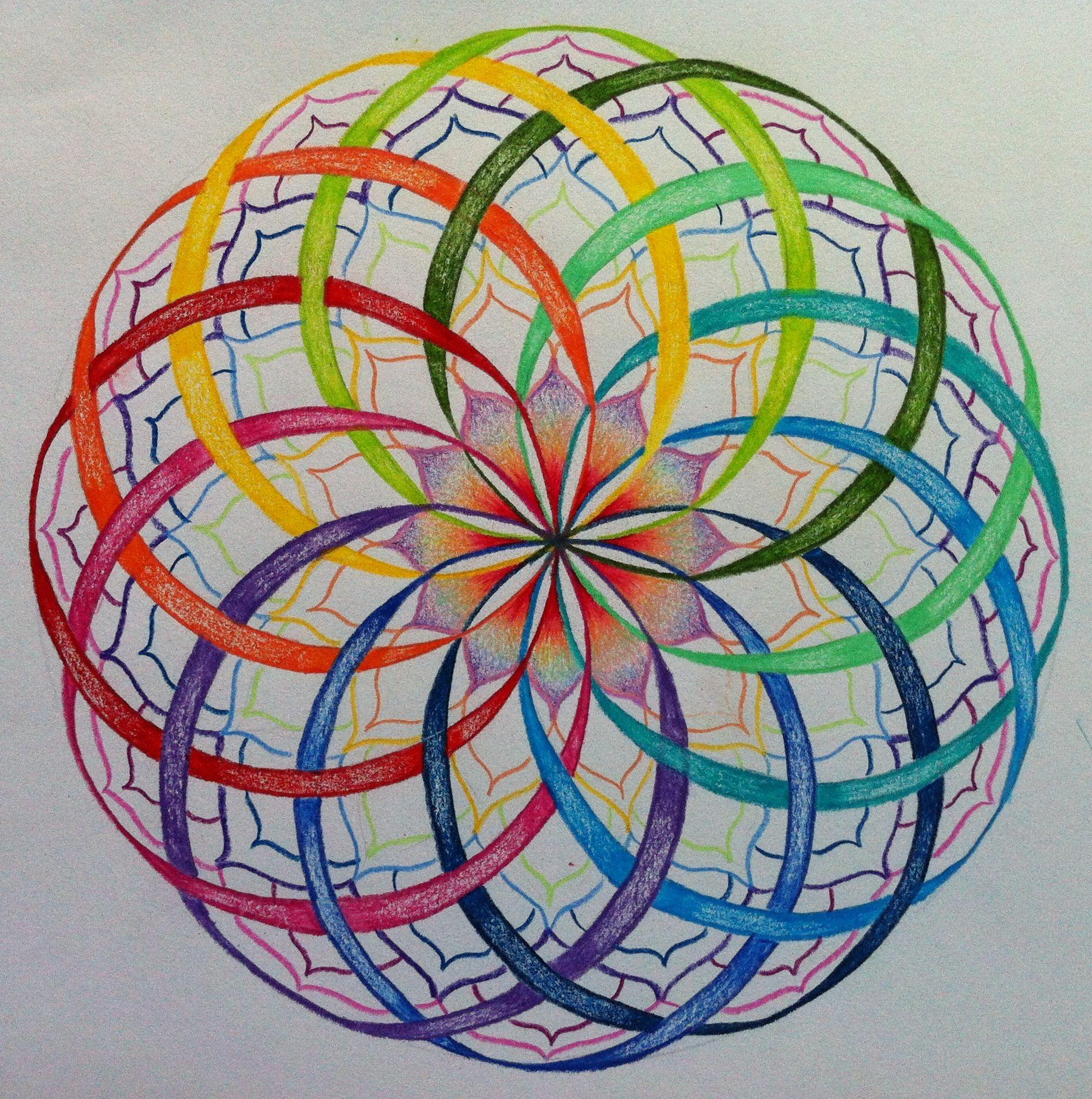 De Leerlingen Kunnen Dit Volgens Het Objectief Waarnemen Natekenen Groep 5 Mandala Tekenen Mandala Kleurplaten Geometrische Tekening