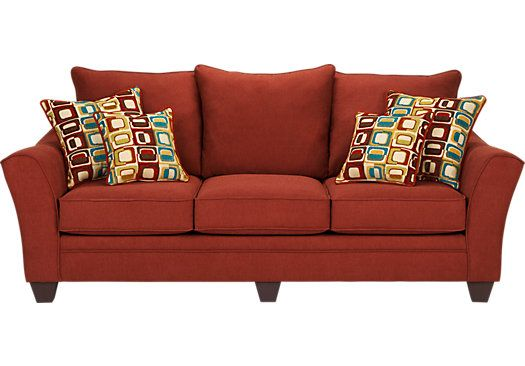 Shop For A Santa Monica Red Sofa At Rooms To Go Find Sofas That Will Look Great In Your Home And Complement The Rest Of You Red Sofa Sofa Styling Modern