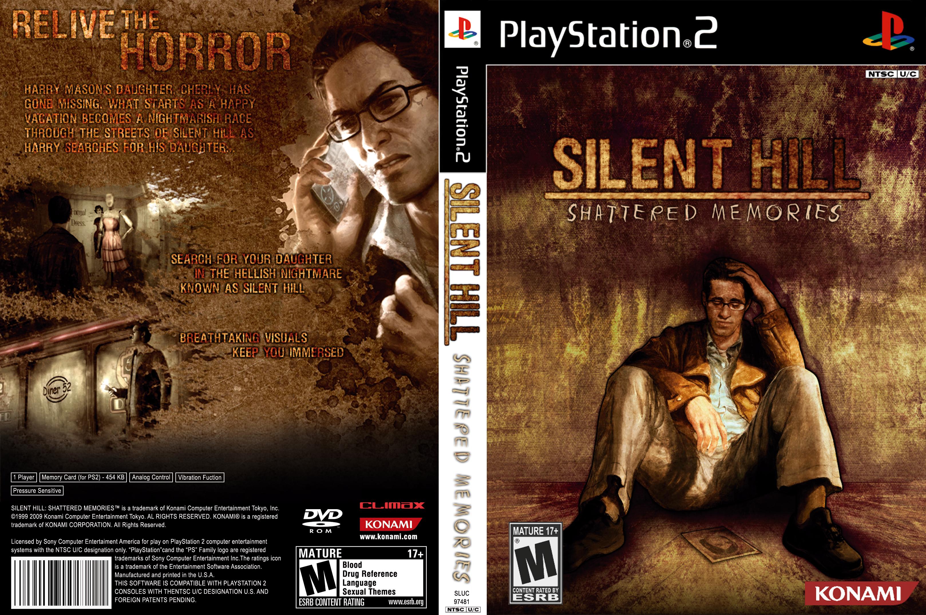 Silent Hill Shattered Memories Ps2 Cover Art Silent Hill Cover Art Box Art