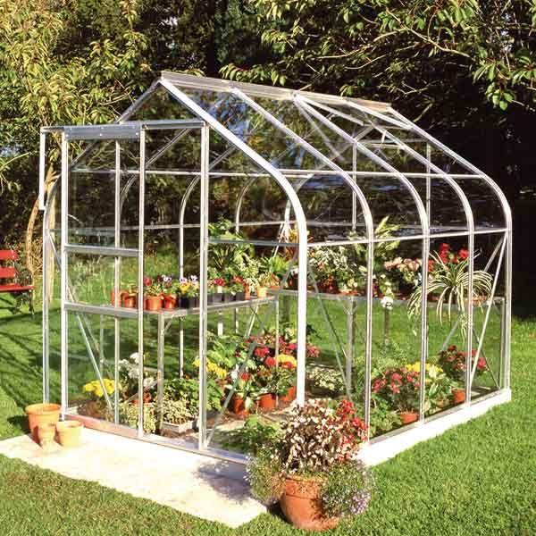 Serre Suprême 5 m² en verre trempé et aluminium - Halls | Jardins ...