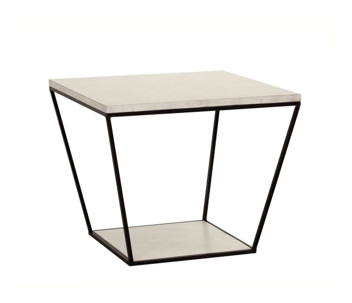 Blair Square Side Table in Raw Cotton design by Redford House
