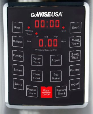 Gowise Usa 12 Qt 10 In 1 Electric Pressure Cooker Silver