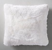 Ultra Faux Fur Pillow Cover White Pillows Pillow Covers Faux Fur