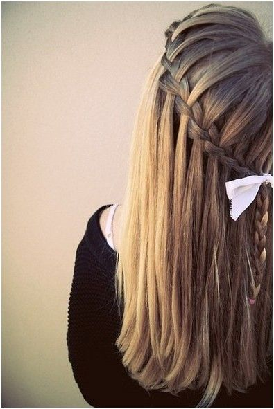 Diy Braided Hairstyles: Straight Long Hair | Straight long hair ...