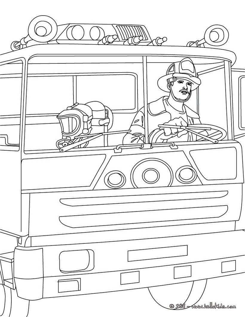 Fire Truck Coloring Pages Calendar Pinterest