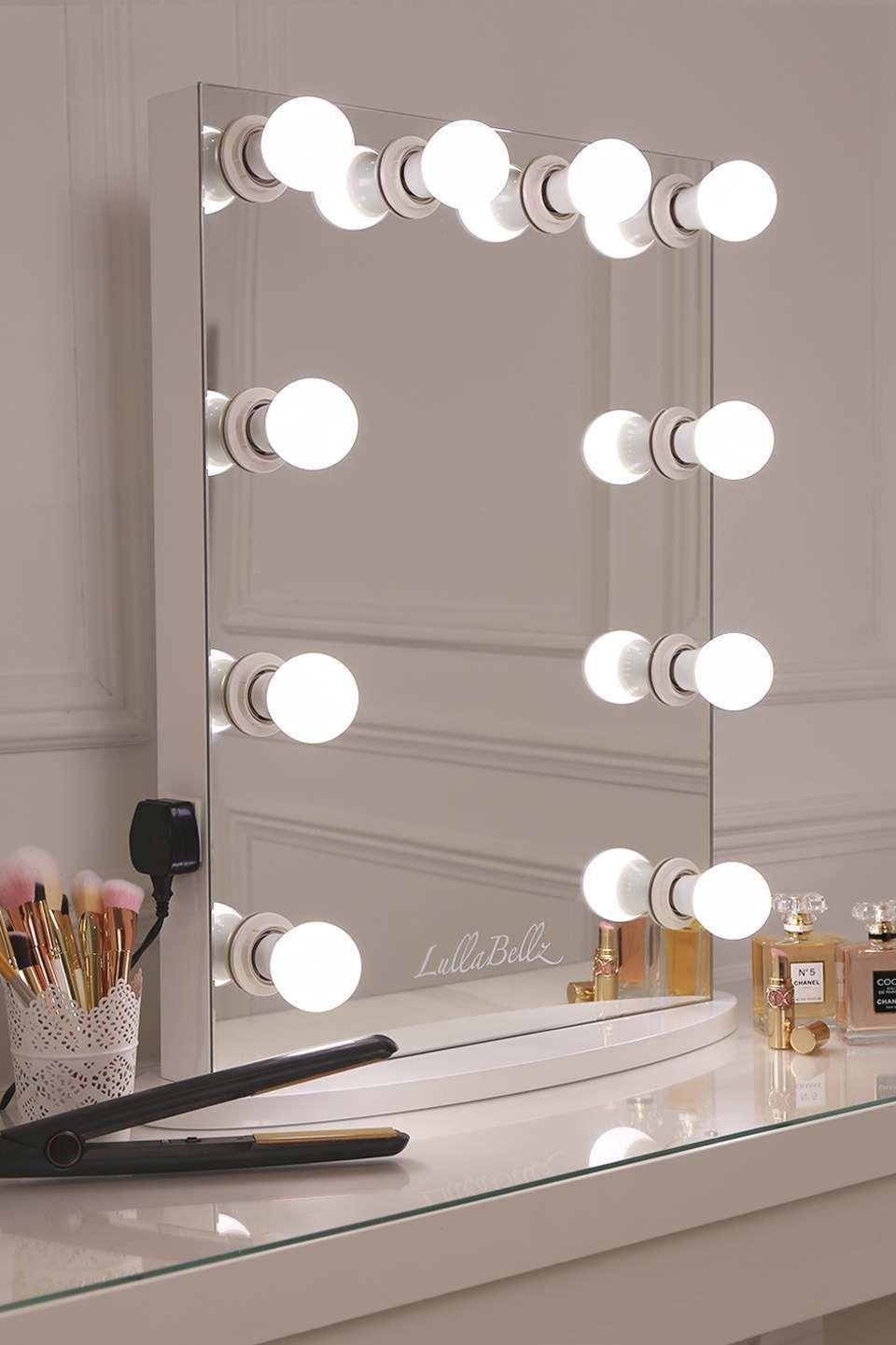 Simplistic crisp white finish embedded hollywood light up mirror simplistic crisp white finish embedded hollywood light up mirror with ten led bulbs aloadofball Choice Image