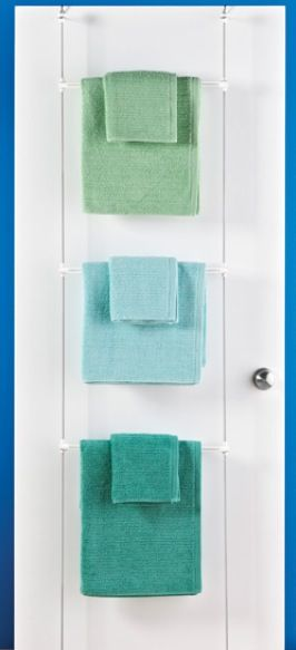 Over The Door Drying Rack Towel Holder The Container Store Towel Hanging Towels Towel Rack