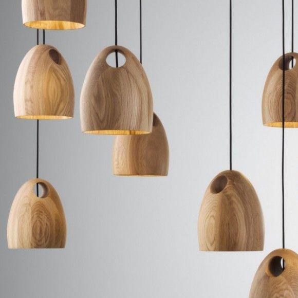 Oak Pendant Lamp Oak is a solid FSC timber pendant light ...