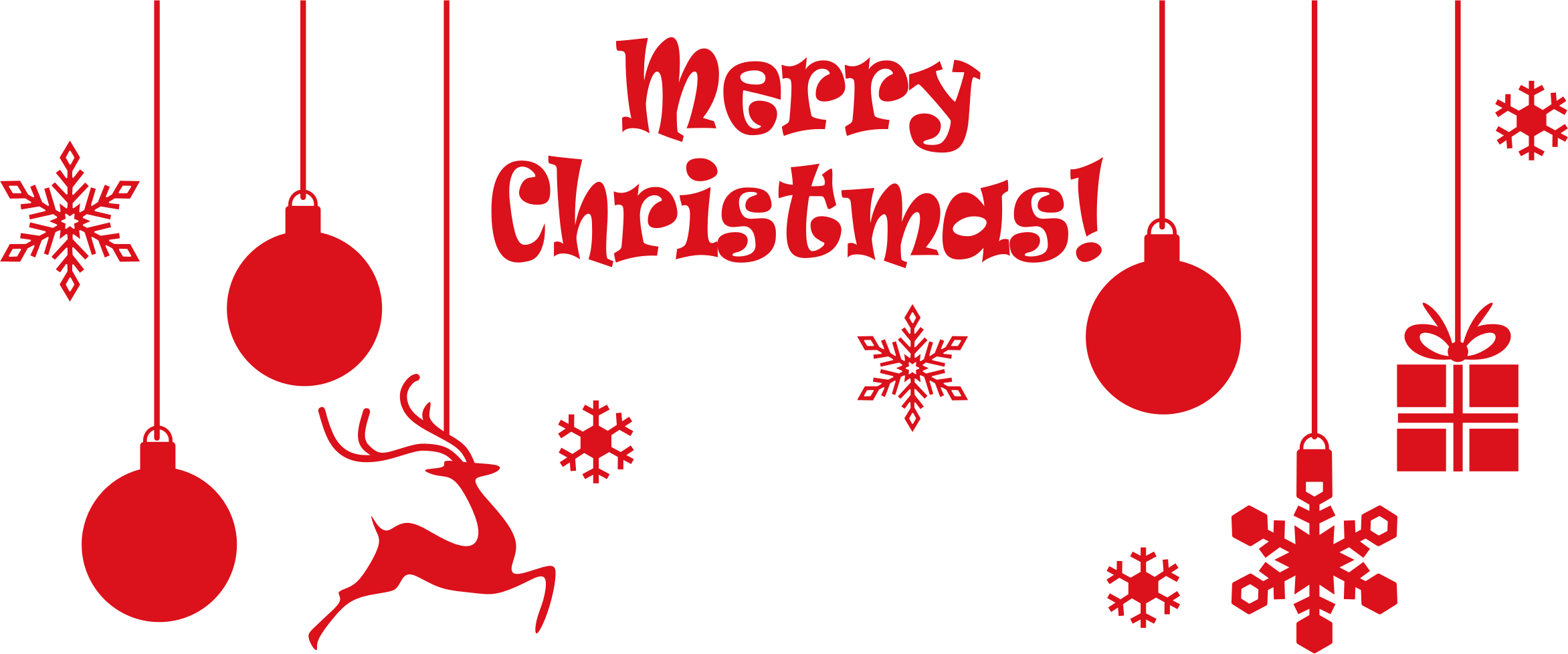 This free Icons Png design of Merry Christmas Ornamental