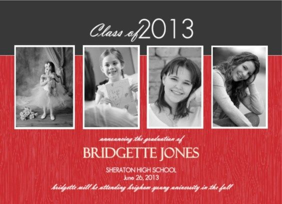 gallery for high school graduation announcements wording