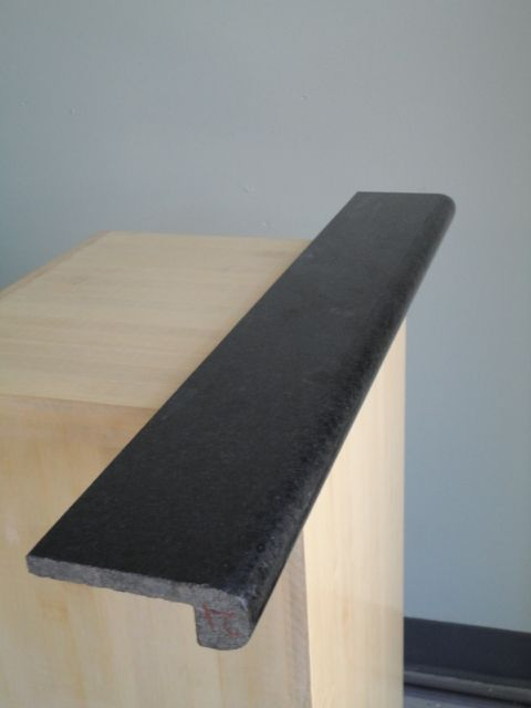Absolute Black Granite Bullnose Piece Granite Tile