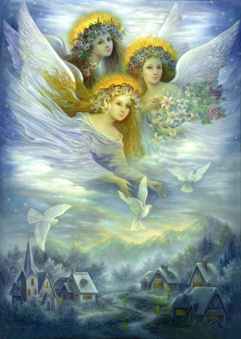 Днем, открытка с неба ангелы