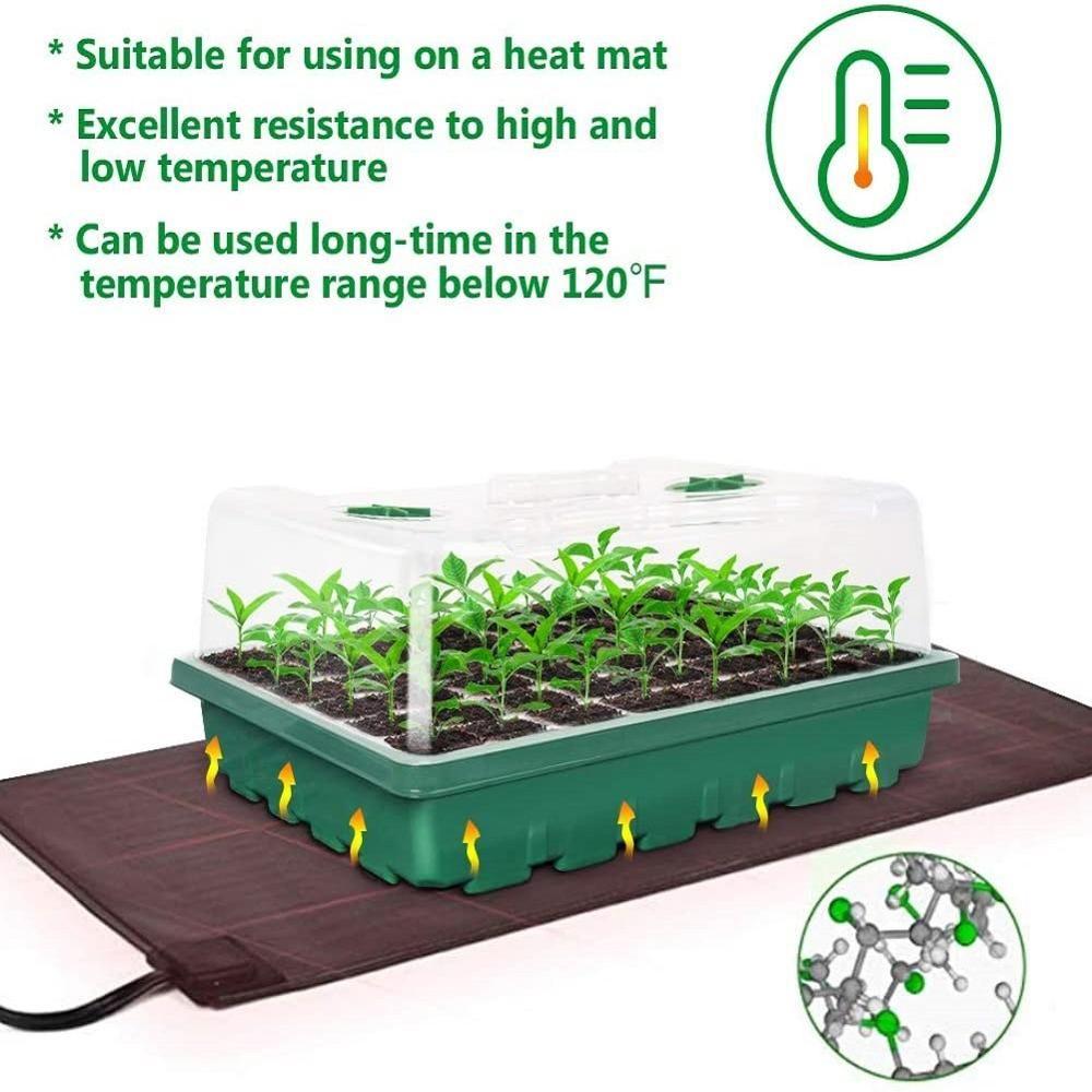 3pcs 24 Cells Plant Germination Tray Nursery Pots Planter Flower Sprouting Pot
