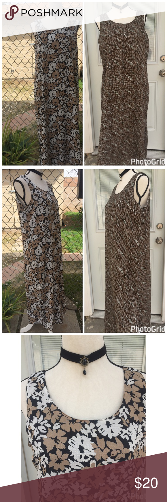 """Reversible Kathie Lee Dress😜 Simple and comfortable Maxi sleeveless loose fitting dress by Kathie Lee. This dress is reversible & nice print on both sides. Bust 40"""" 🌺❤😜🌷💕Tag reads size 12/14. Kathie Lee Collection  Dresses Maxi"""