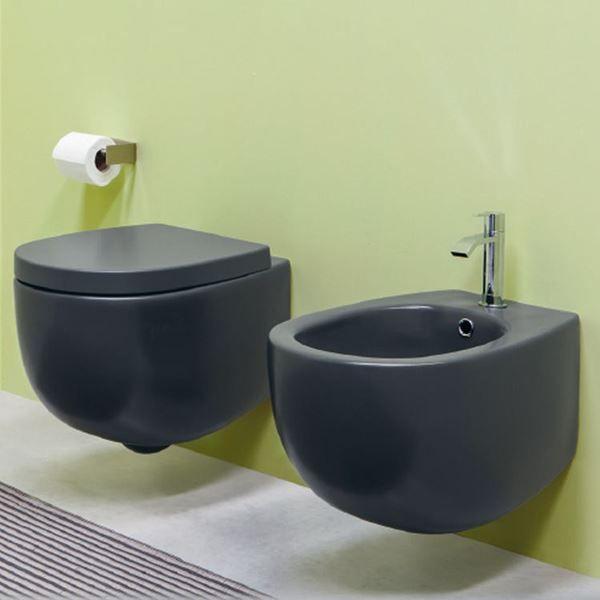 Wall Hung Wc Matt Basalto Milk Nic Design Bagno Bagno Verde
