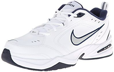 The Nike Air Monarch IV Extra Wide training shoes for men delivers comfort  and style with its leather upper and lightweight Phylon midsole.