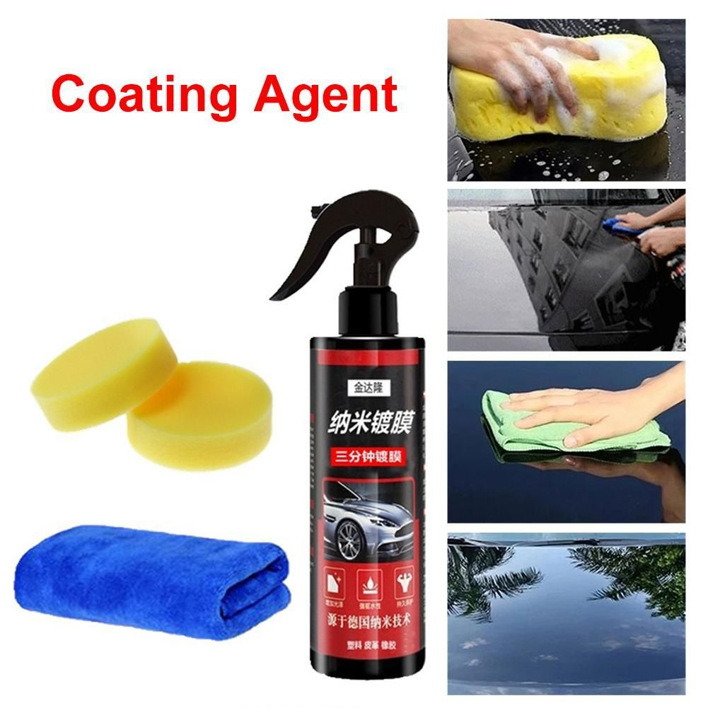Goxfaca Liquid Ceramic Coat Super Hydrophobic Glass Coating Set Spray Wax Car Coating Spray Liquid Ceramic Coat Super Hyd Car Coating Spray Wax Spray Wax Car