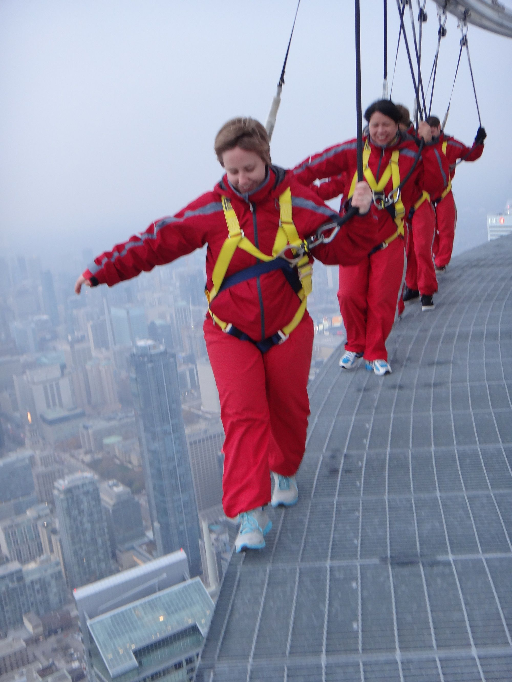 baby steps, CN Tower Edge Walk, November 2012 Cloud