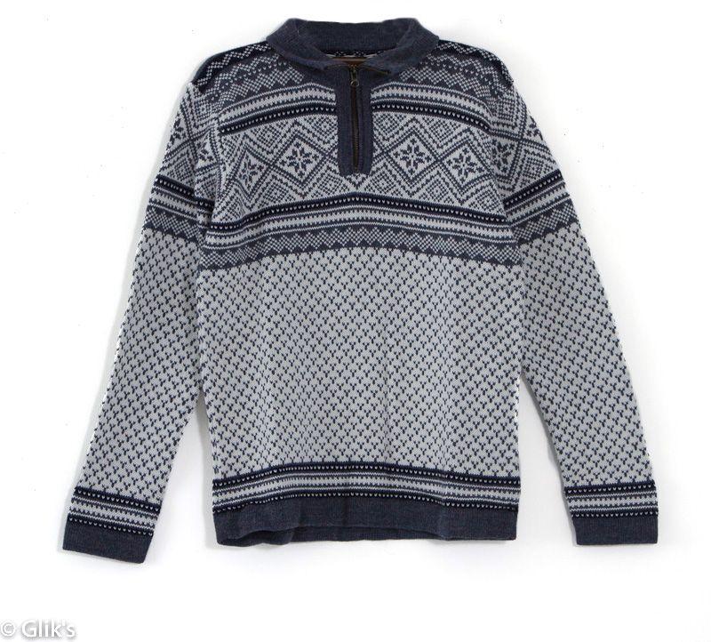 7c8cef079b Artesania Men s Quarter Zip Fair Isle Print Sweater in White