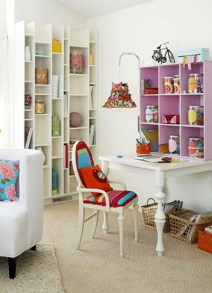 möbel bunt wohnideen wandregale lila Möbel - Designer Möbel