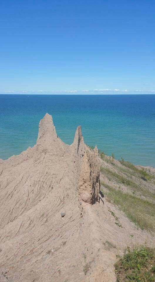 Chimney Bluffs NY on Ontario Lake