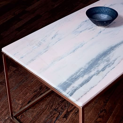 mira coffee table - storm pink | marble top, tabletop and marbles