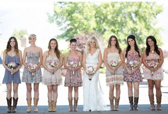 rustic bridesmaid dresses | Country Girl Dresses With Boots ...