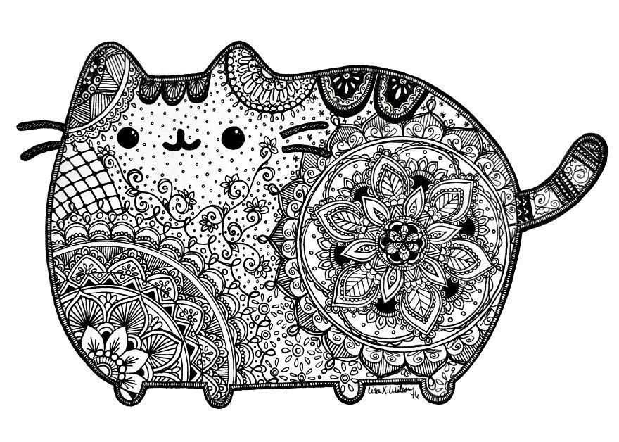 Pusheen The Limits Of Fan Art With The World S Cutest Cat Pusheen Coloring Pages Pusheen Cat Art Inspiration