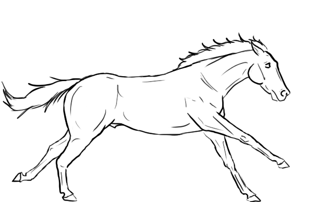 Free Galloping Horse Lineart Horses Moose Art Animals