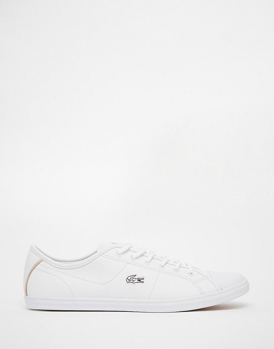 3178f89a937fa Lacoste+Ziane+White+Leather+Plimsoll+Trainers