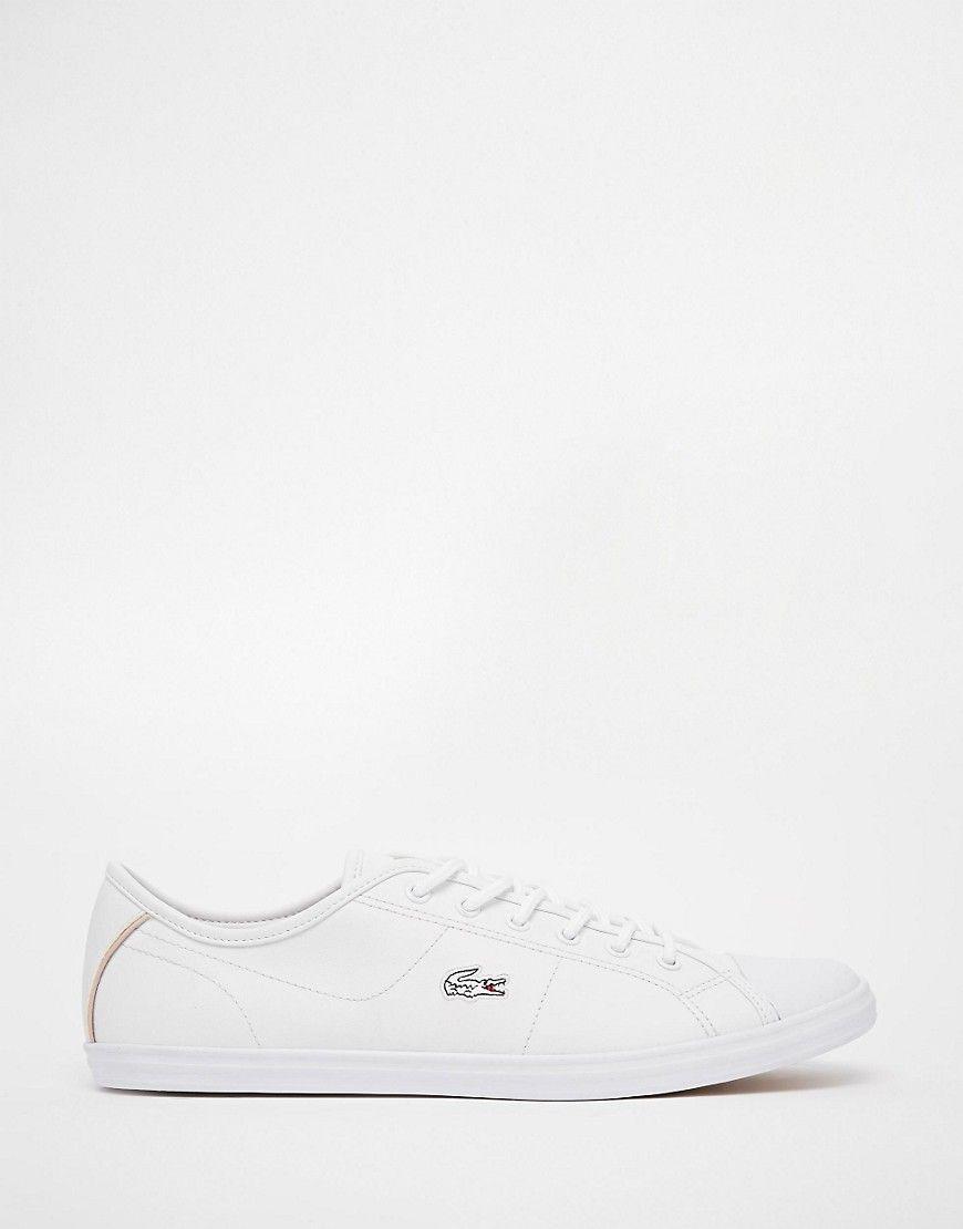 d1a7da99c12 Lacoste+Ziane+White+Leather+Plimsoll+Trainers