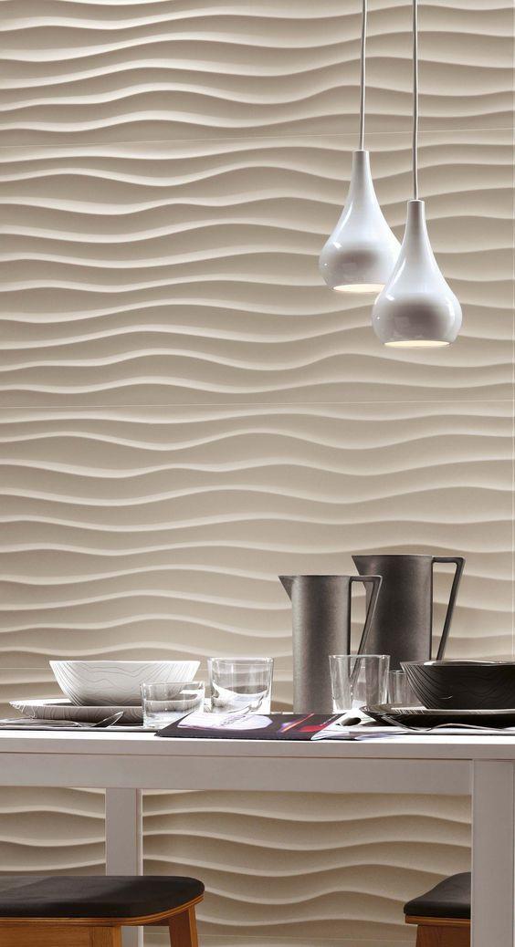 Piastrelle 3d cucina novit ed eleganza idea di for Pittura salone