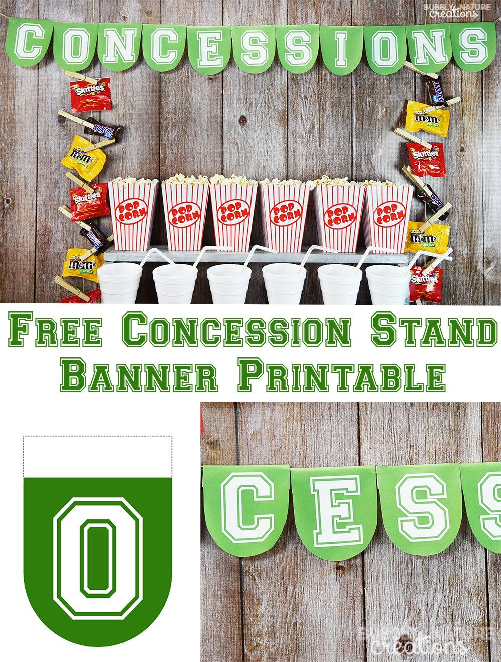 This is a graphic of Nerdy Concession Stand Signs Printable