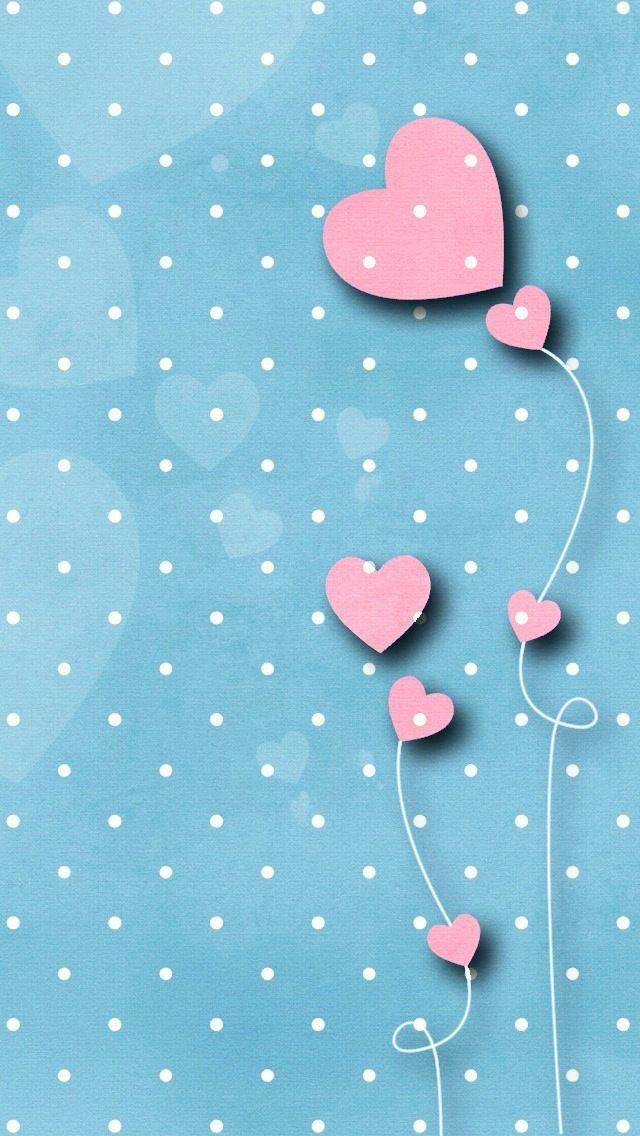 Iphone Wallpaper Polka Dots Blue Hearts Pink Http Htctokok Infinity Hu Http Galaxytokok Infinity Hu Heart Wallpaper Iphone Wallpaper Cellphone Wallpaper Blue hearts live wallpaper free android