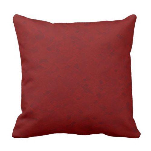 Subtle Dark Red Pattern Throw Pillow | Zazzle.com | Throw ...