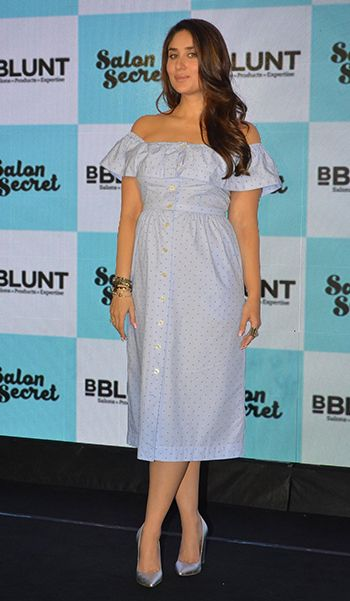 You Don T Need To Be Pregnant To Wear Kareena S Dress Hauterfly Dresses Nice Dresses One Piece Dress