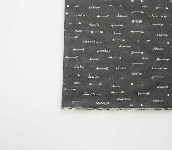 Organic Cotton Baby Blanket Modern Adventure Arrows by FoxAndRebel