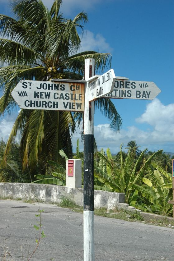 Sign Post Seen In St. John, Barbados